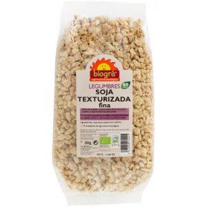 Soja texturizada fina Biográ. Alimento vegetal precesado de forma natural.