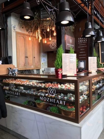 Mozheart, estand mozarella Bar.