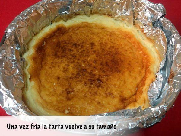 La tarta de queso La Viña se enfría y vuelve a su tamaño