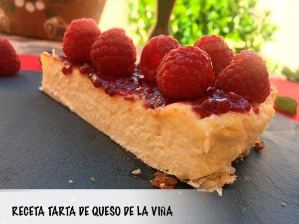 Tarta de queso casera La Viña, receta sencilla y rápida