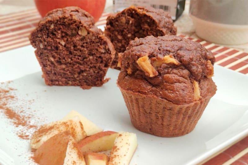 Receta de muffins de chocolate fitness