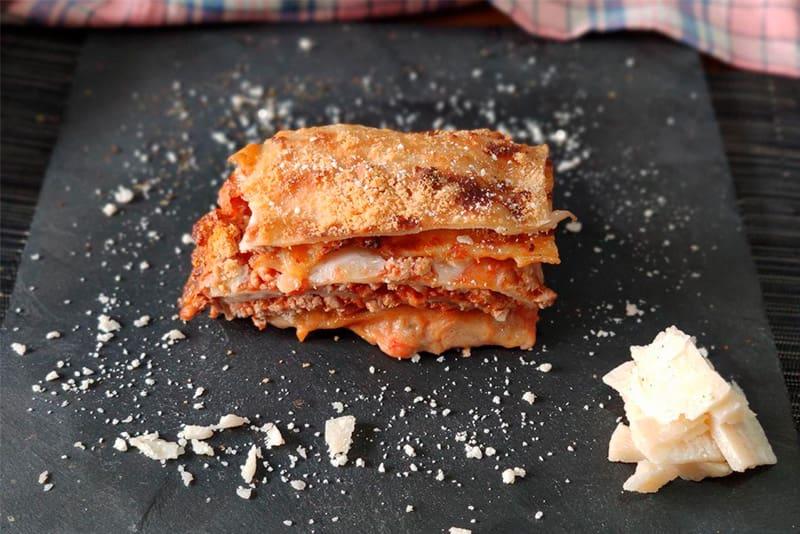 Receta de lasaña de carne picada y verduras