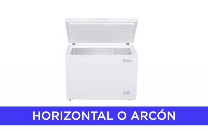 Congelador horizontal o arcón
